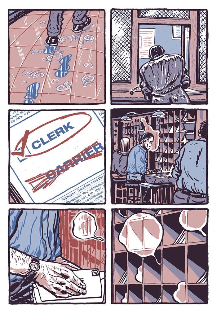 Post Office Bart King King Cartoon Electric